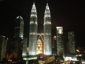 View from our room at Traders Hotel, KL