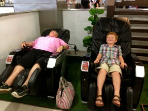 Discovery of the massage chairs at the mall in Penang