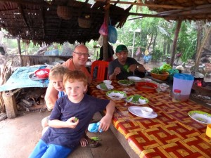 Lunch stop in a village outside Siem Reap, Cambodia