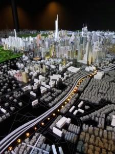 KL City Gallery, city model light show