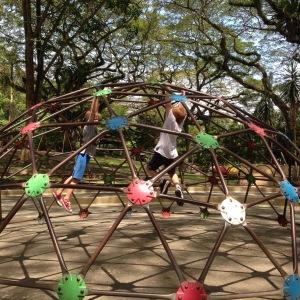 Climbing in Youth Park, Penang